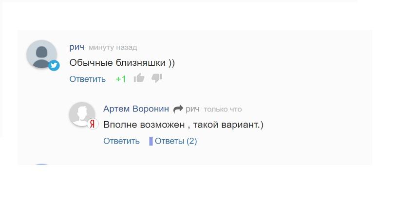 Лайки и дизлайки под комментариями на сайте Русская весна